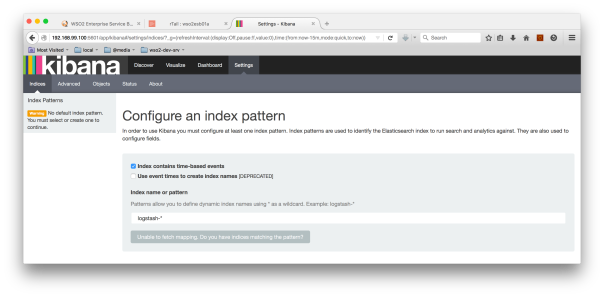 Kibana - Creating a Index Pattern