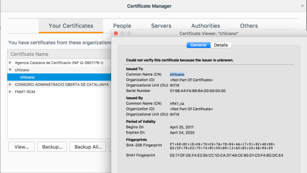 Install the Client Certificate