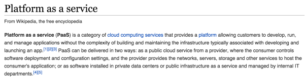 PaaS definition - Wikipedia